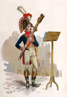 Basso della musica dei granatieri a piedi della guardia imperiale francese -  Maurice Henri Orange.