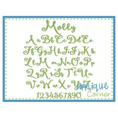 Molly Embroidery Font