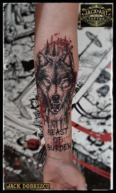 Tribal Wolf Tattoo, Wolf Tattoo Sleeve, Wolf Tattoo Design, Wolf Tattoos, Forearm Tattoo Men, Body Art Tattoos, Sleeve Tattoos, Jack Tattoo, Tattoo For Son