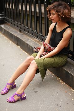 purple sandals! #wanderingsole