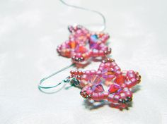 Fierce Star Pink Swarovski Star Earrings for Planned Parenthood by WhimsyBeading, $15.00
