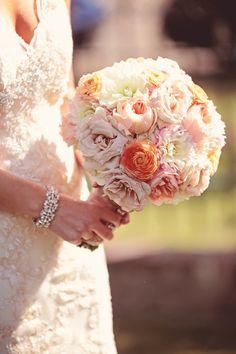 Pretty pastel bouquet: http://www.stylemepretty.com/canada-weddings/2015/03/30/romantic-summer-wedding-at-the-art-gallery-of-alberta/ | Photography: Eternal Reflections Photography - eternalreflectionsphoto.com