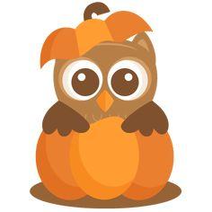 Owl in Pumpkin SVG scrapbook cut file cute clipart files for silhouette cricut pazzles free svgs free svg cuts cute cut files