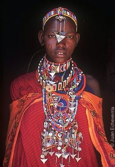 Mujer masai, Mombasa, Kenia.
