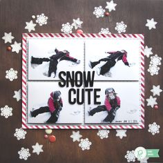 Snow Cute *Pebbles* - Scrapbook.com. Stamp and emboss snowflakes to create your own backgrounds.