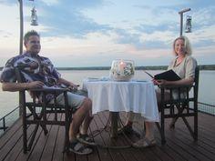 Sampan Dinner at Tongabezi resort in Zambia - Sean & Cassandra Rox