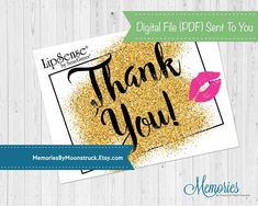 LipSense Glitter Thank You Card image 3 Jumpstart your Independent Distributor Business at LipSense with these fun and stand-out from the crowd thank you cards! These thank you cards have the glitter Thank You Card Images, Thank You Notes, Thank You Cards, Fall Pregnancy Announcement, Marketing Materials, Photo Book, Your Cards, Coloring Books, Photo Gifts