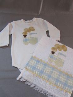Body com toalha de boca www.facebook.com/Arteirosateliedeideias www.marcia-arteiros.com