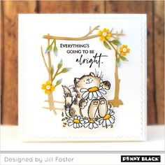 NEW! Plant Joy | The Penny Black Blog Penny Black Cards, Penny Black Stamps, Joy Shop, Handmade Tags, Cat Cards, Scrapbooking, Black Rubber, Stampin Up Cards, Crafty