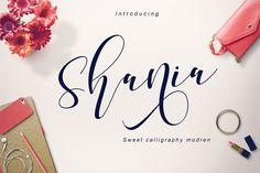 Shania sweet calligraphy + Bonus by Teweka on @creativemarket