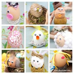 Easter egg decorating ideas using blown-out eggs