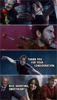 Best 'The Hunger Games Quotes Hunger Games Jokes, Hunger Games Fandom, Hunger Games Trilogy, Hunger Game Quotes, Hunger Games Haymitch, The Hunger Games, Katniss Everdeen Quotes, Katniss And Peeta, Beau Film