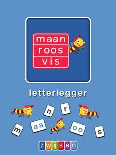 Een leuke app voor jonge kinderen, ze maken zelf woorden door de letters te schuiven.