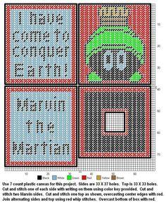 Marvin The Martian Tissue Box Cover