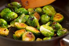 Beer Braised Brussel Sprouts with Shitake Bacon
