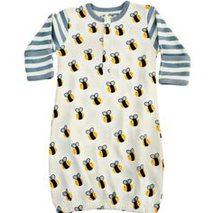 Organic Cotton Newborn Gown - Bee