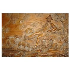 Late C19th Swiss Carved Limewood Relief Panel | From a unique collection of antique and modern paintings at http://www.1stdibs.com/furniture/wall-decorations/paintings/