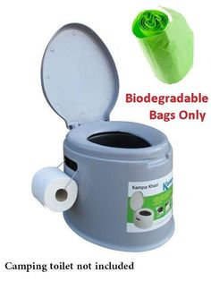 Camping Commode Toilet Composting Biodegradable Bags Only for Kampa Khazi Camping Needs, Camping Gear, Camping Hacks, Outdoor Camping, Portable Toilet For Camping, Camping Toilet, Coleman Camping Stove, Camper Awnings, Festival Camping
