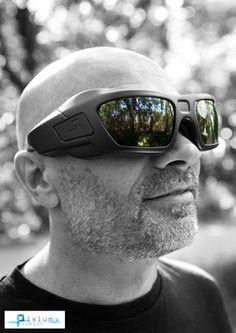 Man wearing Pixium Bionic Retina Glasses