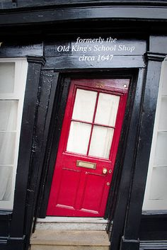 The crooked door of Sir John Boy's House in Canterbury
