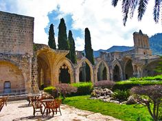 North Cyprus :: Bellapais Abbey Cyprus Island, Places To Travel, Places To Visit, Visit Cyprus, North Cyprus, European Holidays, Island Nations, Greek Islands, Barcelona Cathedral