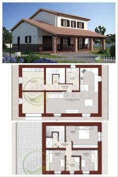 Progetti case su due piani nel 2020 case piantine e for Progetti case singole