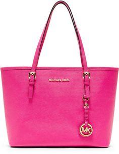 michael kors handbags pics   Michael Michael Kors Small Jetset Travel Tote Bag in Pink (neon pink)