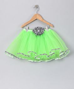 Take a look at this Lime Green Zebra Tutu