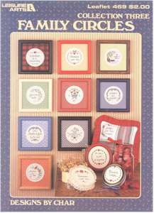 Leisure Arts 469 Collection Three Family Circles Family Circle, Circle Design, Circles, Cross Stitch Patterns, Collection, Art, Craft Art, Kunst, Cross Stitch Charts
