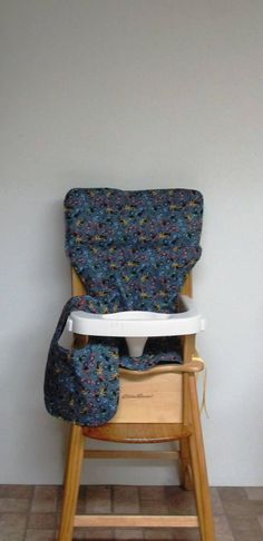 eddie bauer cotton chair cushion, high chair cover, jenny lind chair cover,feeding furniture, baby accessory, motorcycles with matching bib by SewingsillySister on Etsy