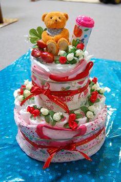 おむつケーキ くまちゃん diape(nappy) cake - http://plaza.rakuten.co.jp/syussanjunbi/diary/201001090000/# ... おむつケーキ?・・・