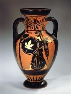 An Example Of The Ancient Greek Style Of Pottery Black