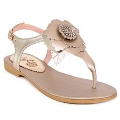Casual Women s Sandals With Flip Flop and Flower Design