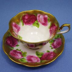 Royal Albert Huge Pink Rose Teacup Avon Tea Cup by Thinkilikeit