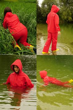 See some very wet adventures in a red Rukka suit, wellies and a black vinyl shirt. (back to the gallery overview) Nylons, Girl In Rain, Red Raincoat, Girl Tied Up, Hooded Cloak, Vinyl Shirts, Rain Wear, Girls In Love, Girls Wear
