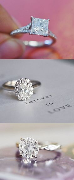 Love the delicate detail of these stunning diamond engagement rings.