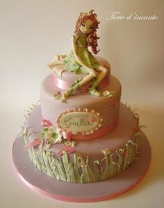 Fairy Oak - Cake by Torte d'incanto Beautiful Cakes, Amazing Cakes, Cupcakes, Cupcake Cakes, Fairy Garden Cake, Fairy Oak, Fantasy Cake, Cake Accessories, Spring Cake