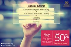 Our Special Course Advanced Digital Marketing+ Advanced Software Testing + Security + Server ATEES Industrial Training 2nd Floor Ananya Tower M.G Road Thrissur,Kerala,India Call : 8589012025, 9287212121 & 0487-2445556 www.atees.org #Server #Security #DigitalmarketingcourseinThrissur #DigitalmarketingtraininginThrissur #SoftwaretestingcourseinThrissur #SoftwaretestingtraininginThrissur #TestingcourseinThrissur #SEOcourseinThrissur #SEOcoursetraininginThrissur