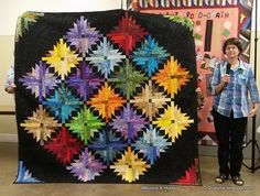 Show & Share, Kirksville MO 2015 - Bonnie K Hunter's Pineapple Blossom pattern with sashing