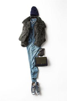 Kyoko Kikuchi's Closet | 私らしく、ファーをカジュアルに着る
