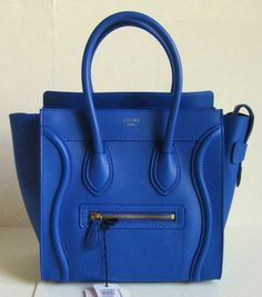 CELINE COBALT BLUE MICRO LUGGAGE