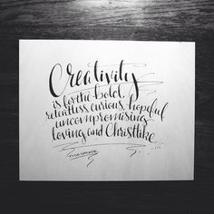 #annalovestoletter #handlettering #calligraphy #echo13 #creativity #bold #relentless #curious #hopeful #uncompromising #loving #christlike