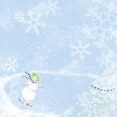 An Ice Skating Snowman