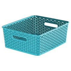 Y Weave Medium Storage Bin - Aqua - Room Essentials™