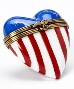 Look at this #zulilyfind! American Flag Heart French Porcelain   Box by Limoges by Rochard #zulilyfinds