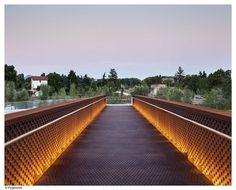 Concrete-Corten_Bridge_Over_Rio_Arga-Aranzadi_Park-02 « Landscape Architecture Works | Landezine