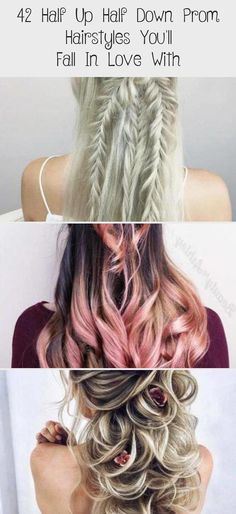 42 Half Up Half Down Hairstyles for Prom You will fall in love with - # prom # h. 42 Half Up Half Down Hairstyles for Prom You will fall in love with – # prom # hairstyles # fall Half Up Half Down Hair Prom, Prom Hair Down, Wedding Hairstyles Half Up Half Down, Prom Hairstyles For Short Hair, Down Hairstyles, Braided Hairstyles, Fall Hairstyles, Easy Hairstyle, Straight Prom Hair
