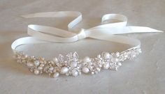 Wedding headband. Bridal head piece. Hair by ShesAccessories, $79.95