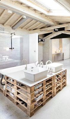 Salle de bain mansardée DIY