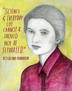 Rosalind Franklin #quote #portrait  ... #art by Lisa Congdon